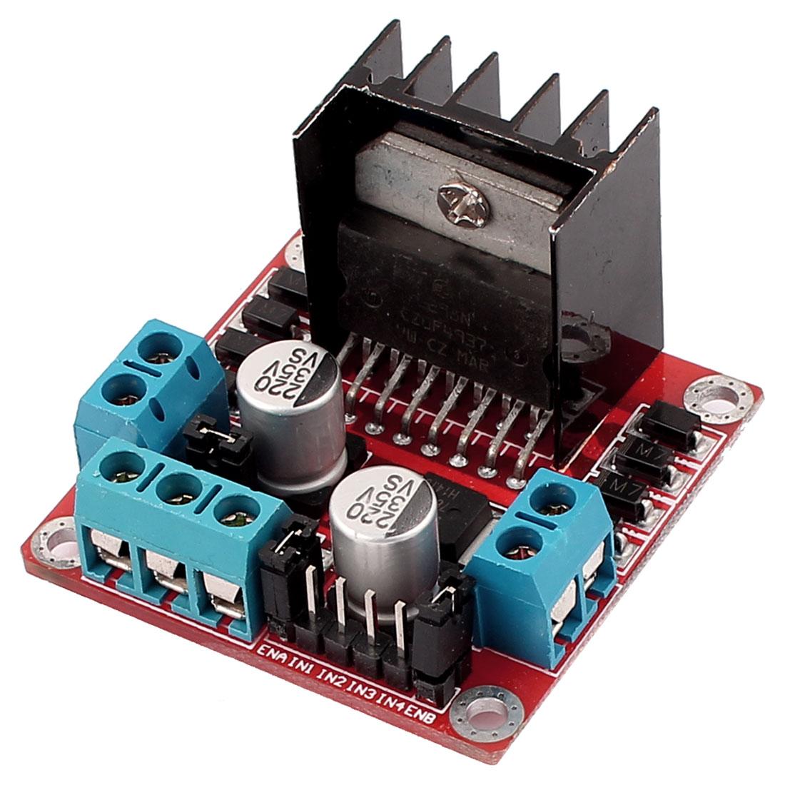 L298N DC Dual Stepper Motor Controller Driver Board Module