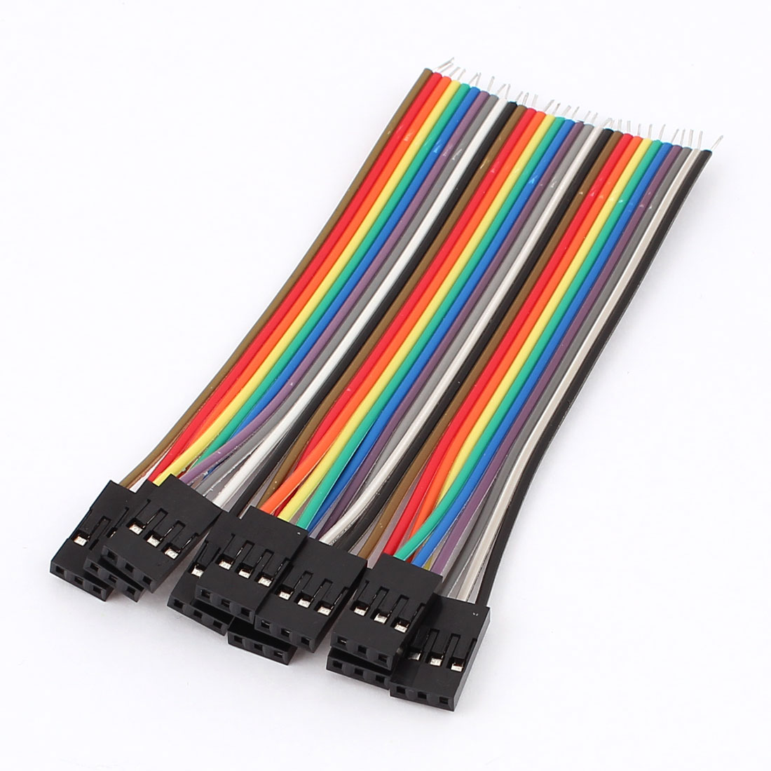 10pcs 10cm 2.54mm 3P Female Flat Ribbon Wire Jumper Cable for Breadboard