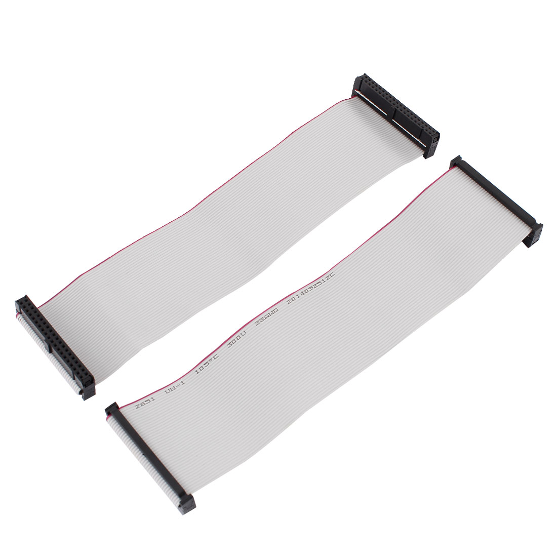 2pcs 2.54mm 40-Pin Female to Female IDE PATA Extension Flat Ribbon Cable 20cm