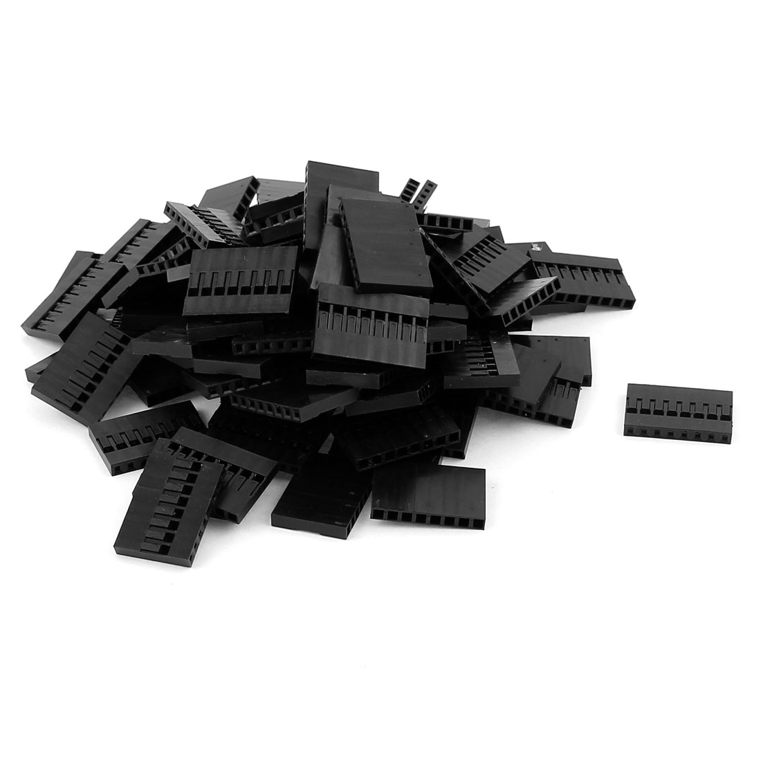 100pcs 8 Position 2.54MM Pitch IDC Socket Jumper Wire Female Housing