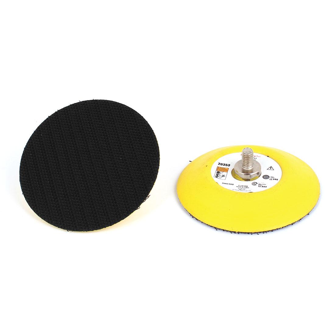 """2 Pcs 3"""" 7.5cm Hook Loop Face Sanding Pad Air Vacuum Sander Grinder Tools"""