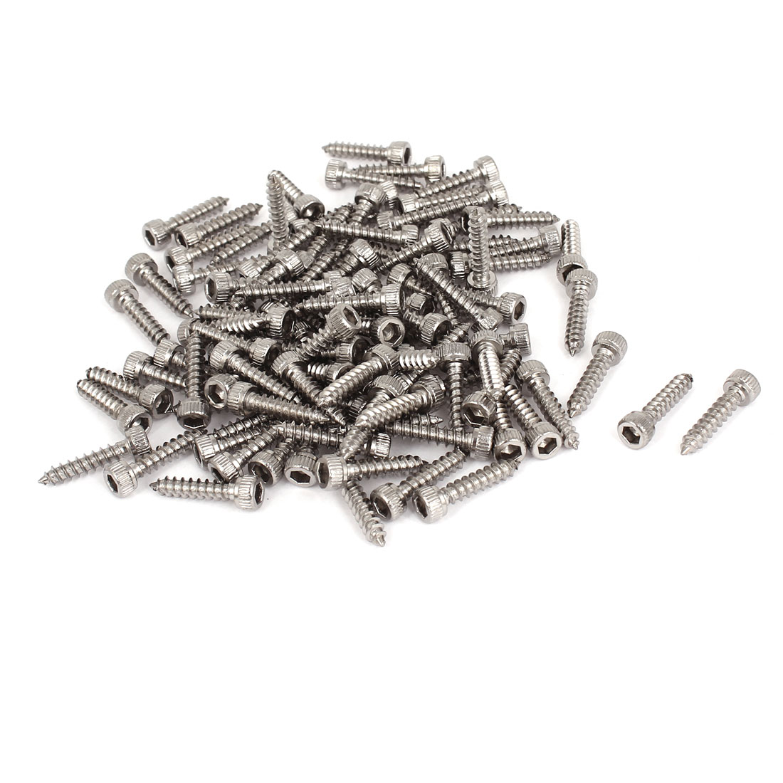 100 Pcs M3.5x16mm Stainless Steel Hex Socket Cap Head Self Tapping Screws