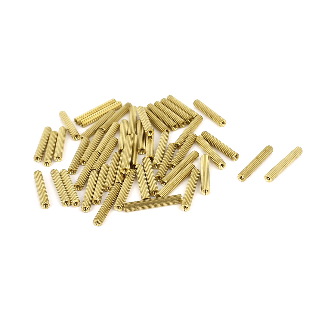 50 Pcs 2mm Female Threaded Pillars Brass Standoff Spacer Nuts M2x20mm