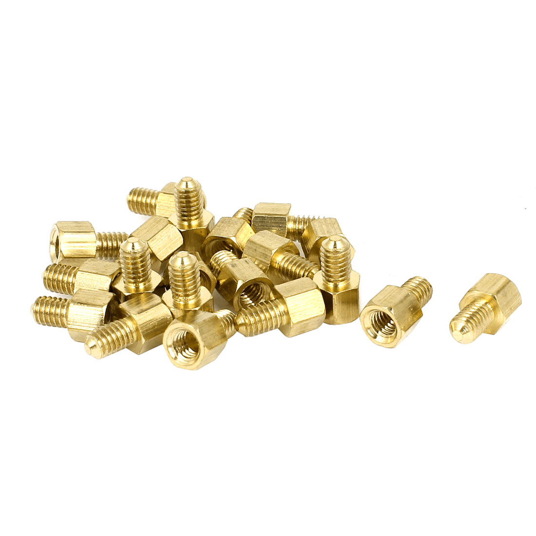 20pcs M4x5mm+6mm Hexagon Female Male Spacer Nut Screw Standoffs for PCB Mounting