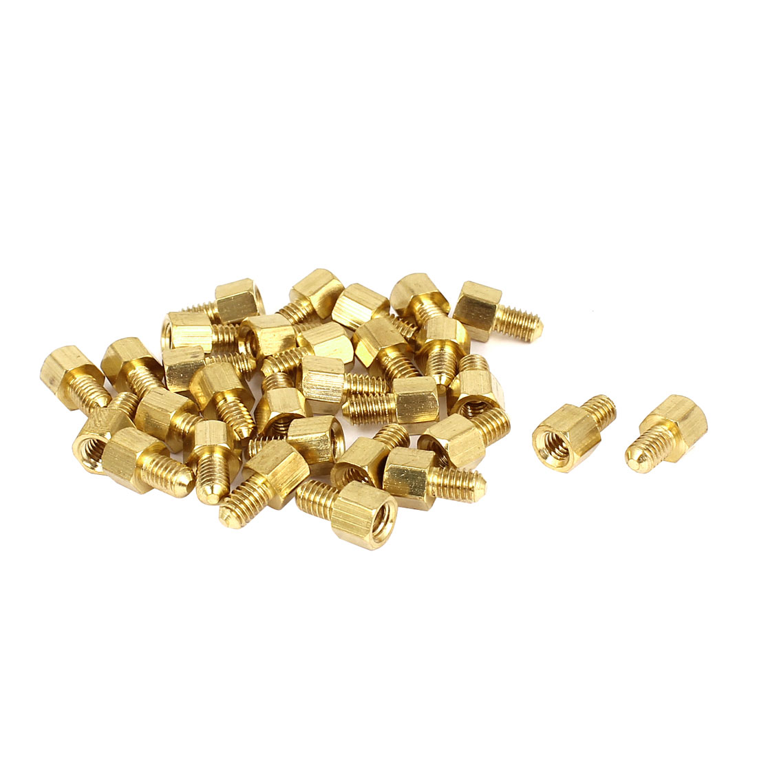 30 Pcs M4 5mm+6mm Male Female Brass Screw PCB Motherboard Standoffs Hex Spacers