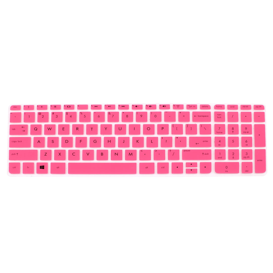 Pink Silicone Computer Keyboard Skin Protective Film for HP029