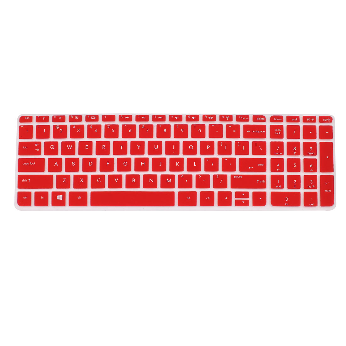 Red Silicone Computer Keyboard Skin Protective Film for HP029
