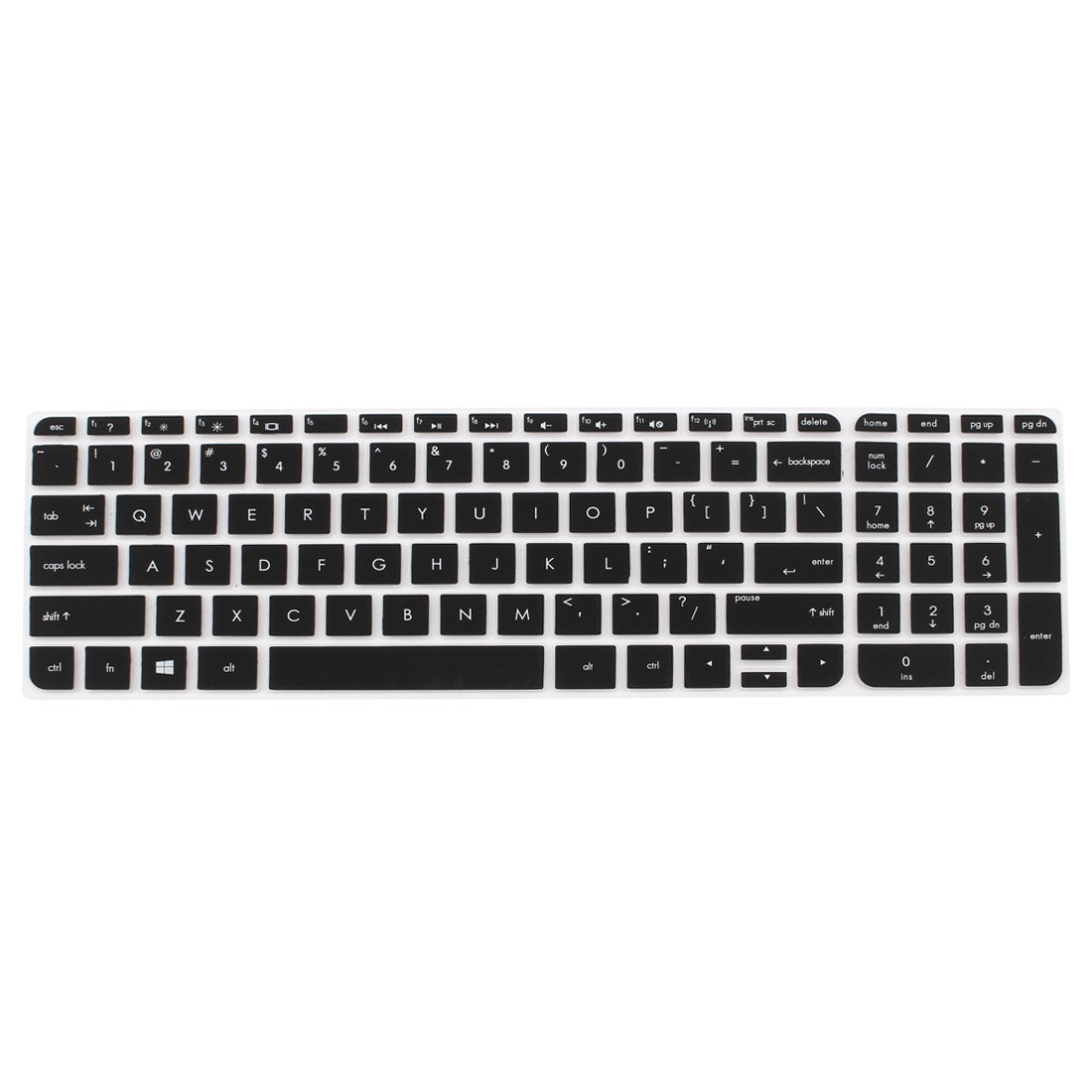 Black Silicone Computer Keyboard Skin Protective Film for HP029