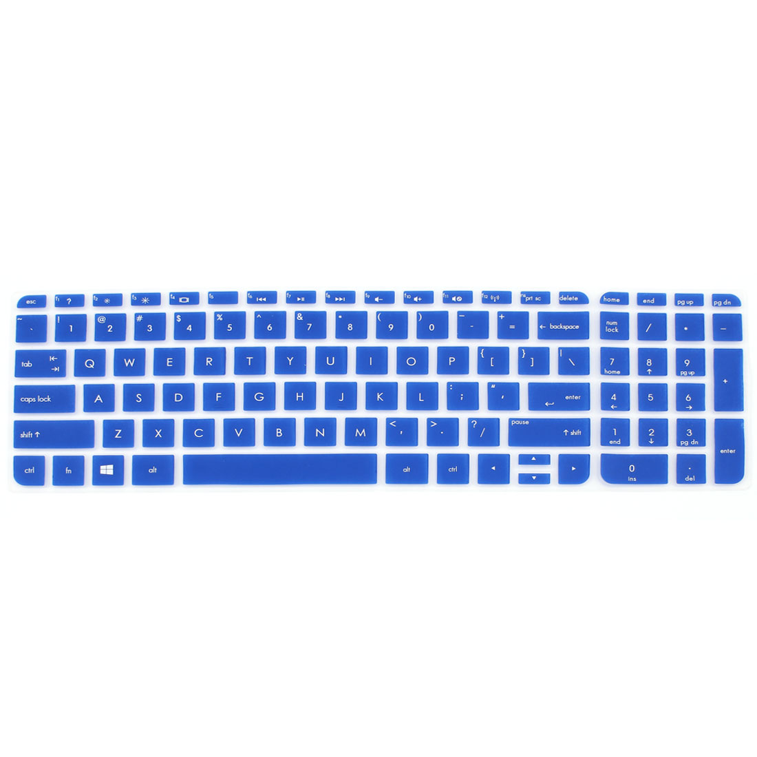 Blue Silicone Computer Keyboard Skin Protective Film for HP029