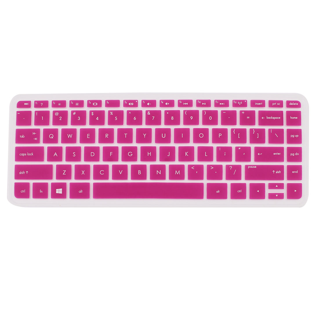 Fuchsia Silicone Computer Keyboard Skin Protective Film for HP030