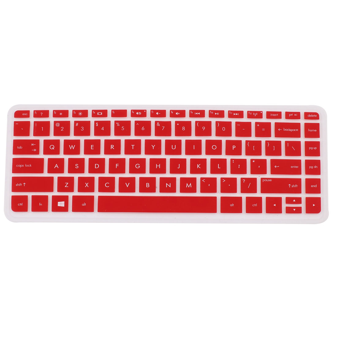 Red Silicone Computer Keyboard Skin Protective Film for HP030