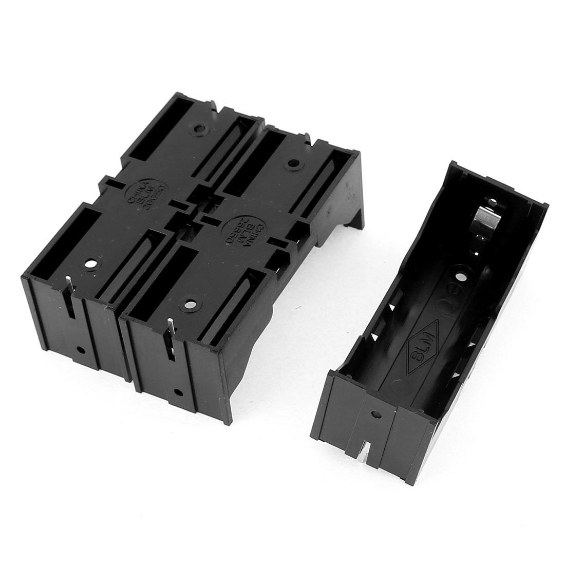3Pcs Plastic Single 26650 Battery Holder Case Storage Box Black