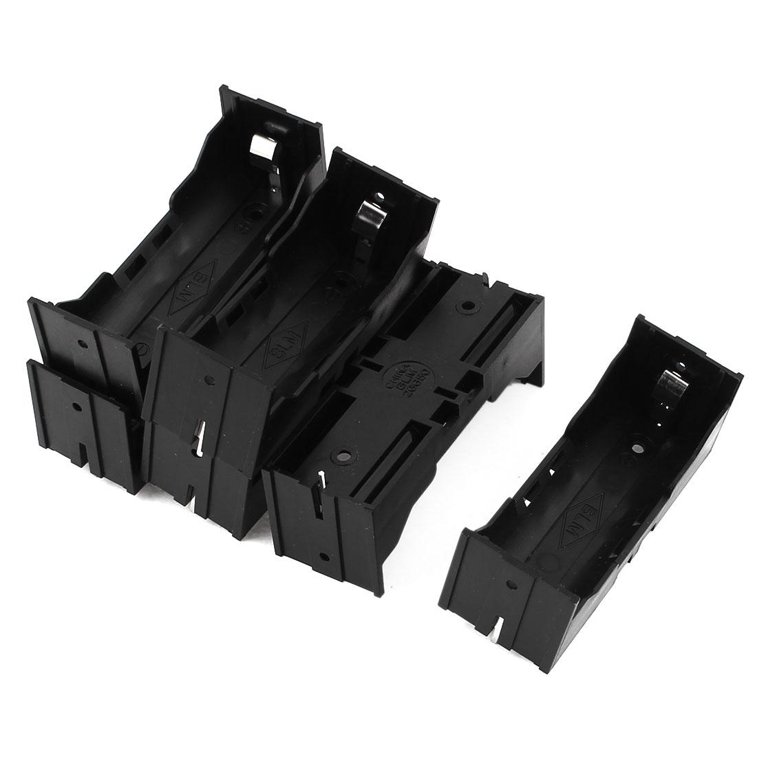 6Pcs Plastic Single 26650 Battery Holder Case Storage Box Black