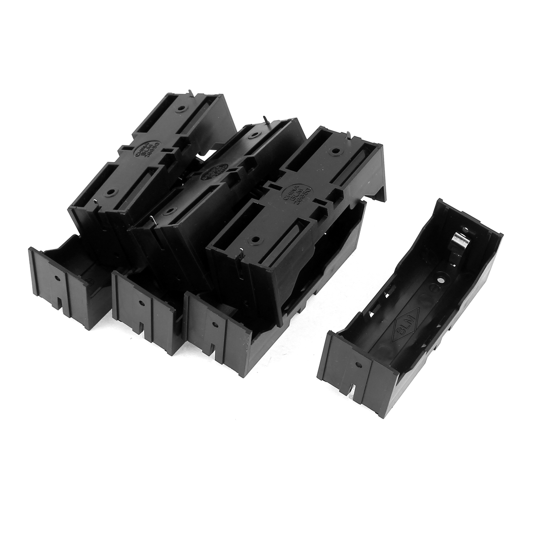 7Pcs Plastic Single 26650 Battery Holder Case Storage Box Black