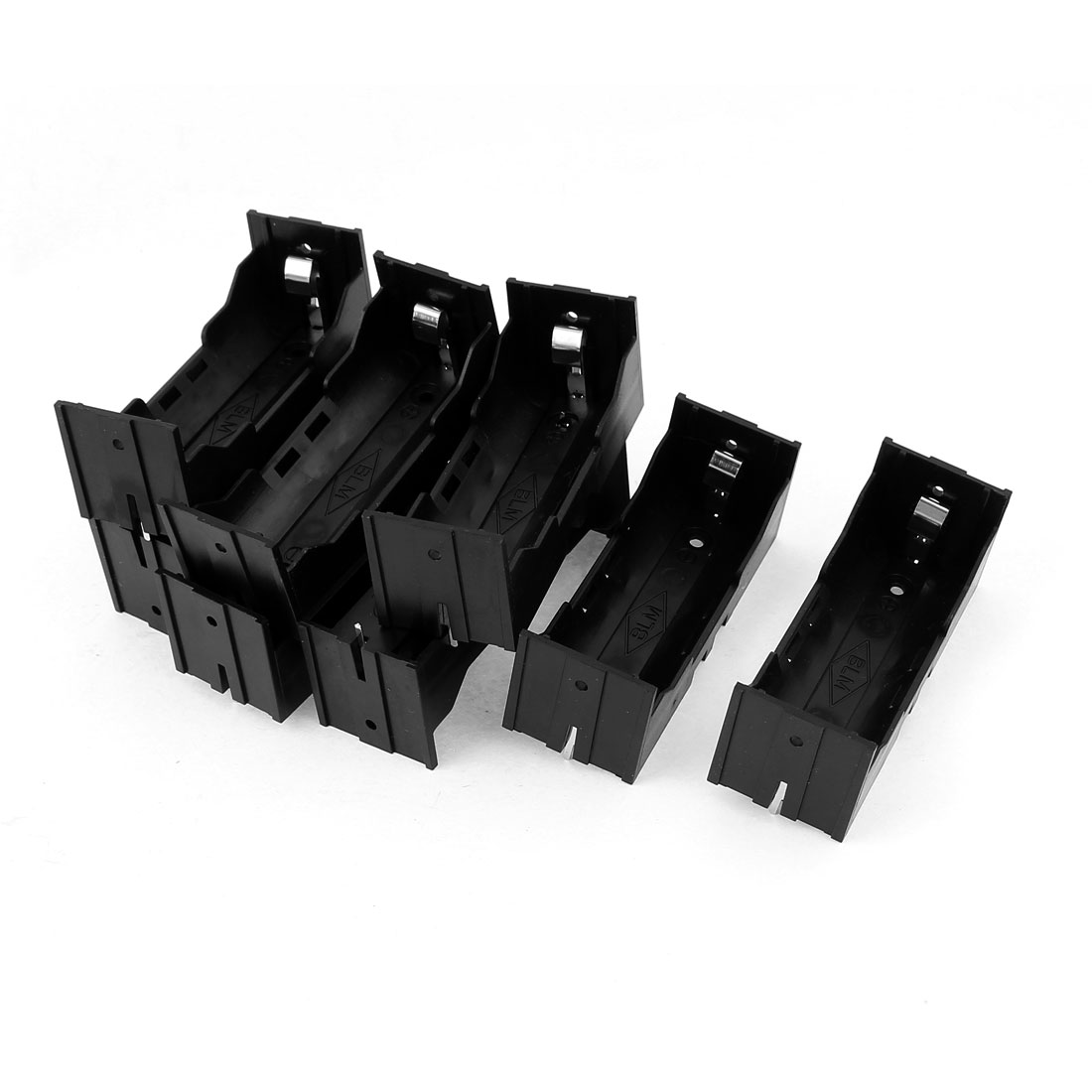 8Pcs Plastic Single 26650 Battery Holder Case Storage Box Black
