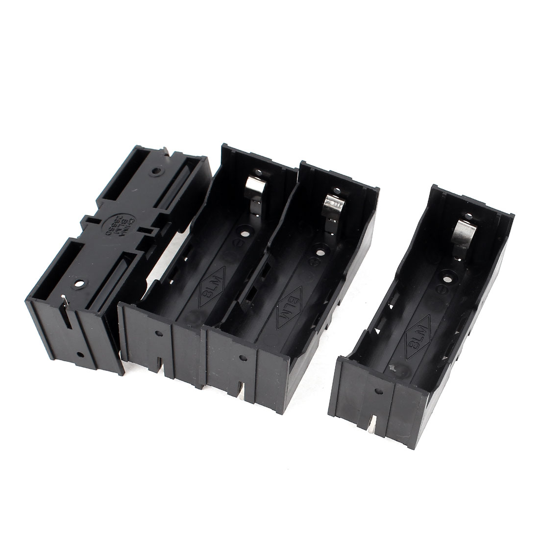 4Pcs Plastic Single 26650 Battery Holder Case Storage Box Black