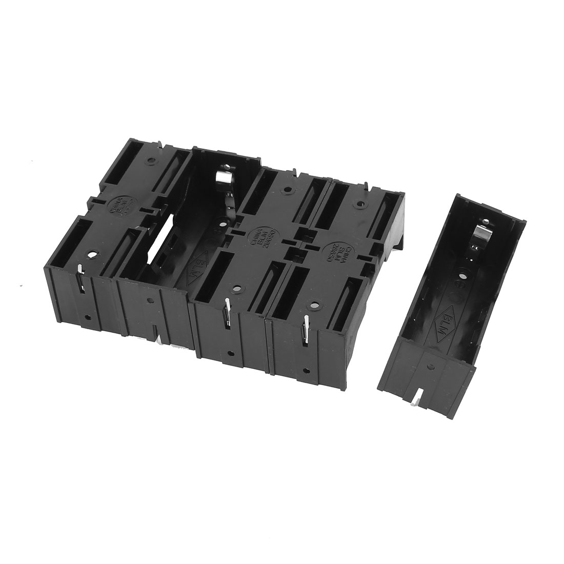 5Pcs Plastic Single 26650 Battery Holder Case Storage Box Black