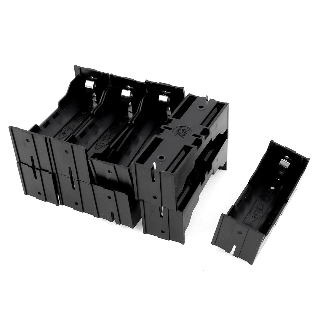9Pcs Plastic Single 26650 Battery Holder Case Storage Box Black