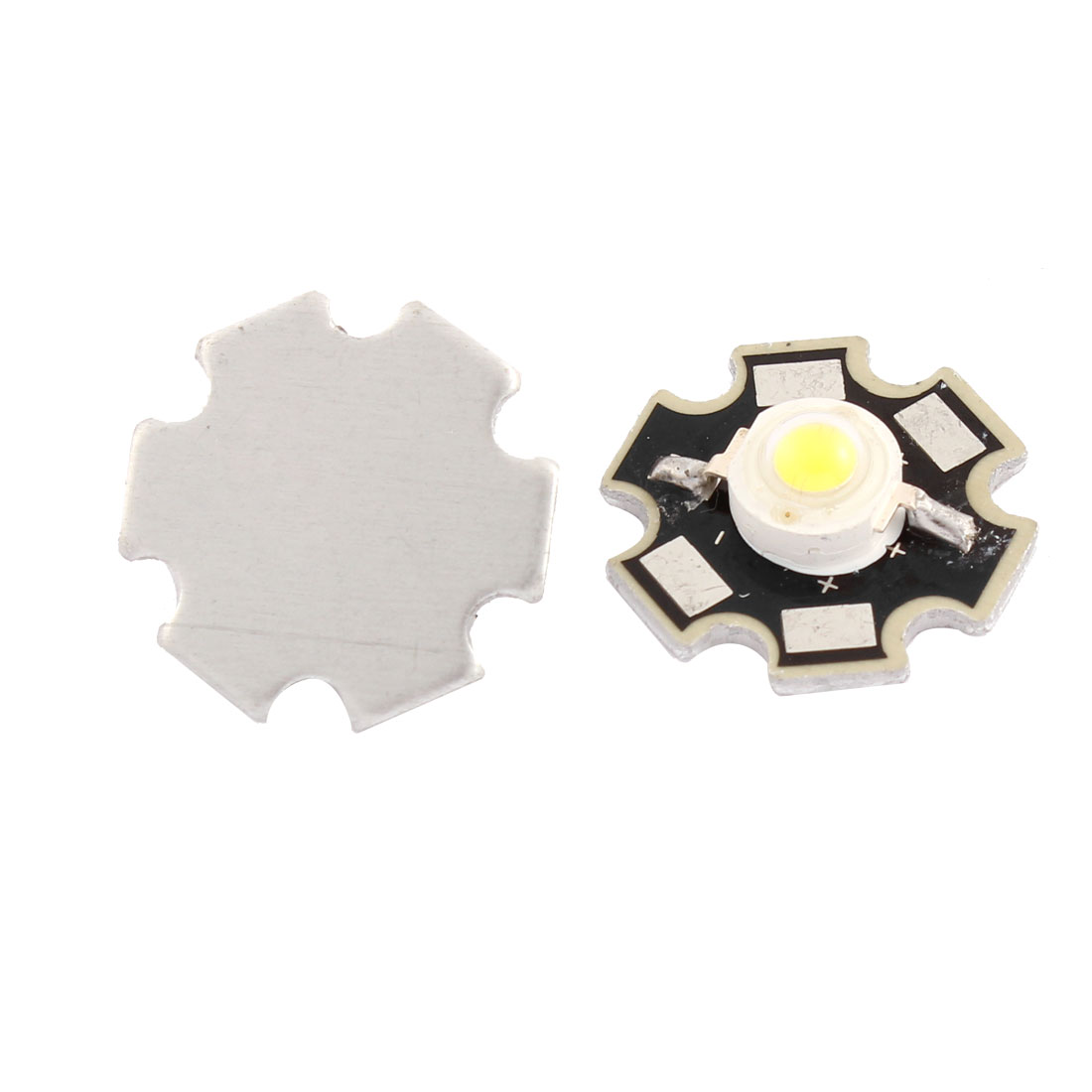 High Power 3W 190-210LM 20mm Star PCB Base White LED Bead Emitters 2pcs