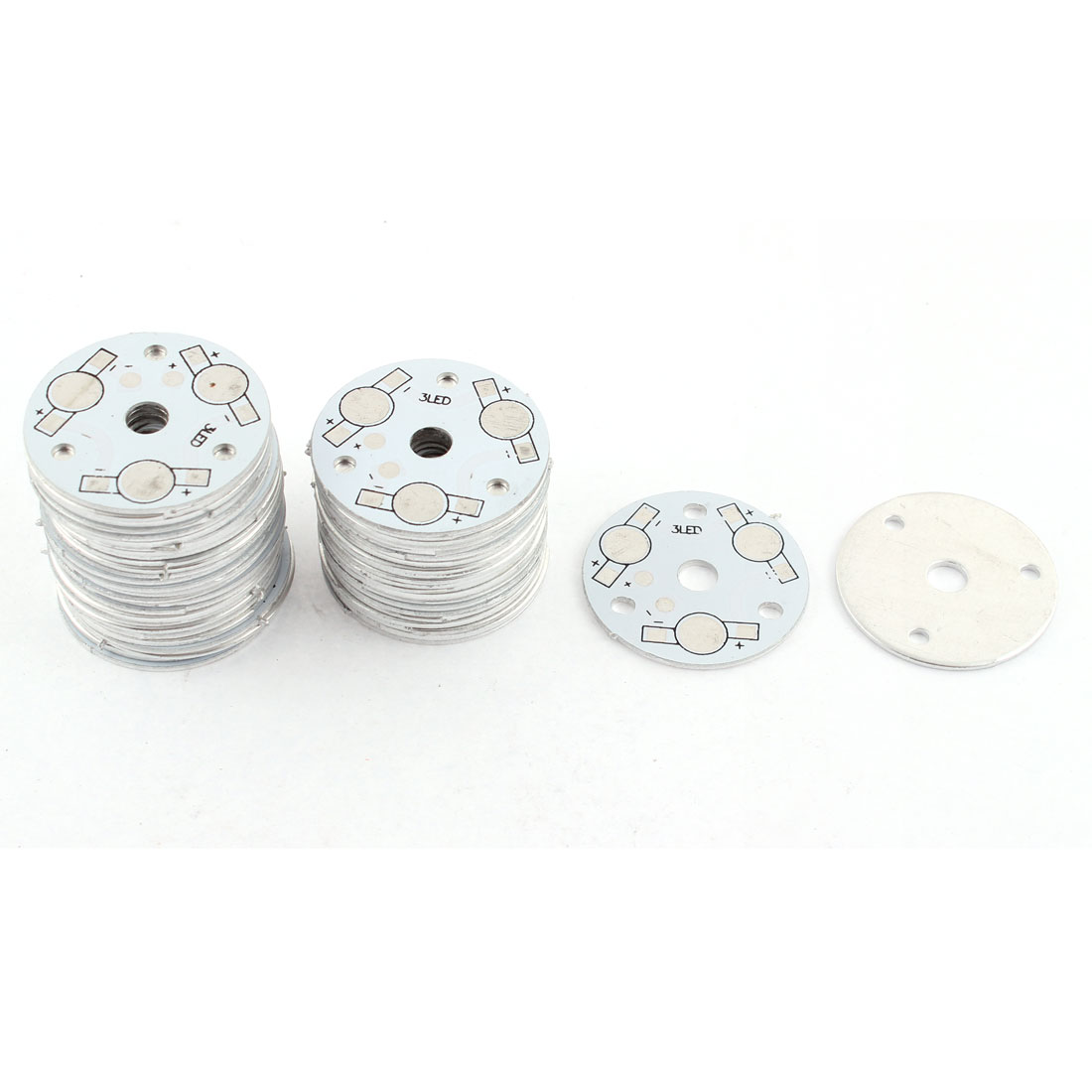 DIY 3x1W 3W 5W LED Aluminum Base Round Board Circuit PCB Plate 35mm 50pcs