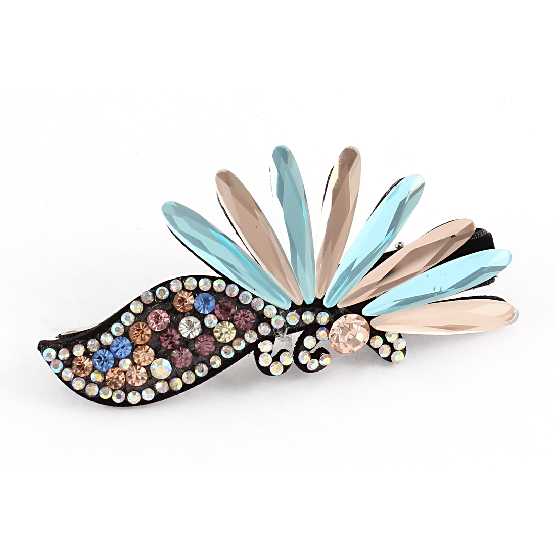 Rhinestone Decor Women Alligator Hair Clip Hairpin Hairclip Colorful