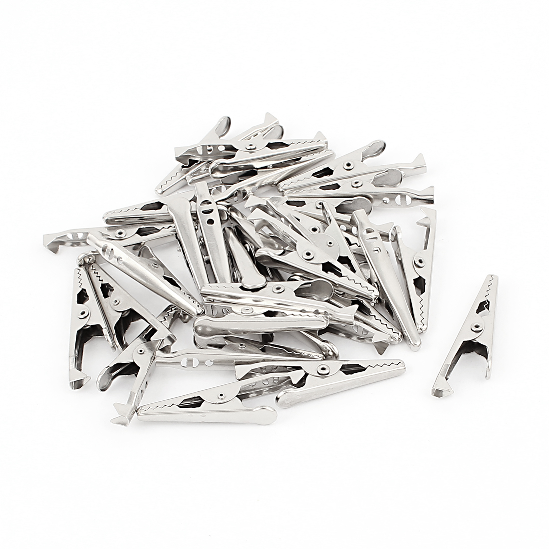 30 Pcs Electric Non Insulated Testing Crocodile Alligator Clips Clamps