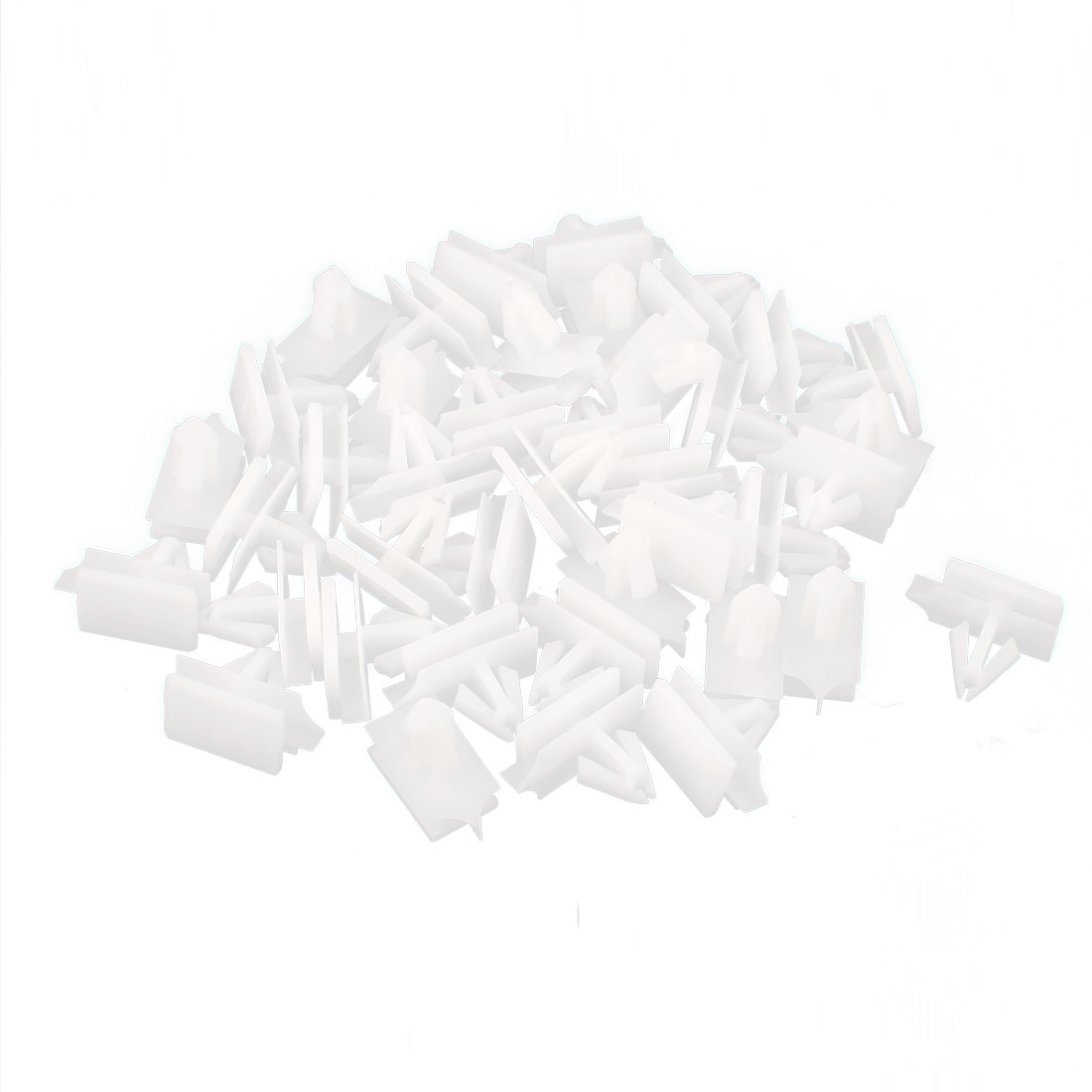 40 Pcs 11mm Hole White Nylon Rivets Fastener Fender Bumper Clips for A9 Car