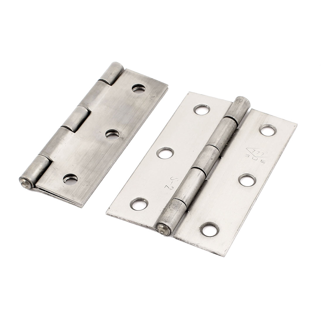 "2 Pcs 3.0"" x 2.0"" 202 Grade Stainless Steel Folding Furniture Cabinet Door Butt Hinge"
