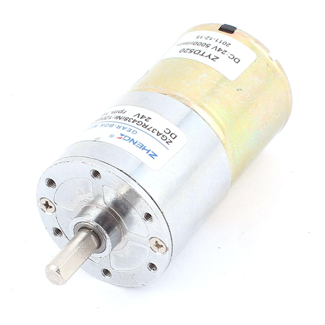 Metal DC 24V 10RPM Output Speed Efficient Gear-Box Motor