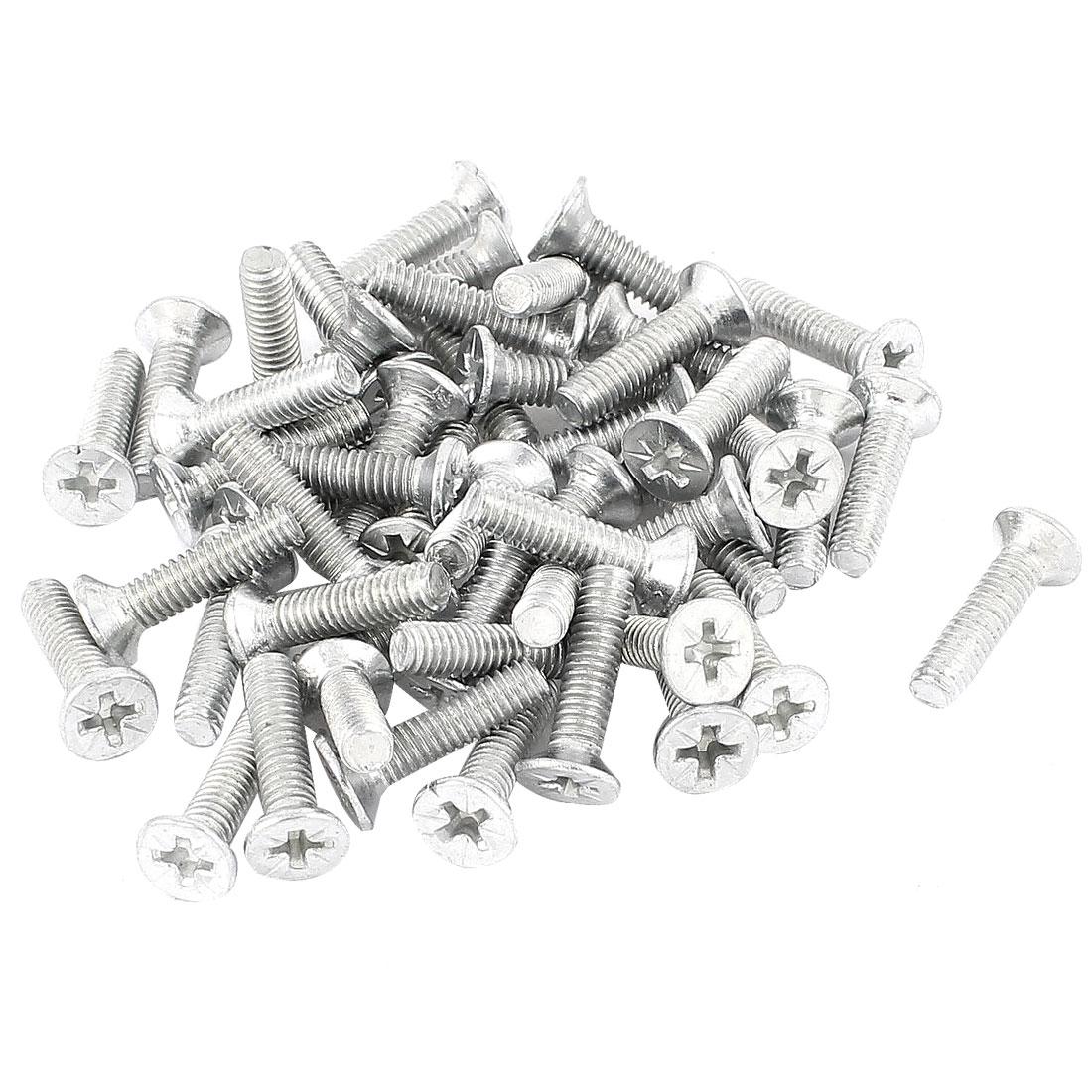 100 Pcs 3.7mm Width Pozidriv Screw Fasteners Bolt M4 x 16mm
