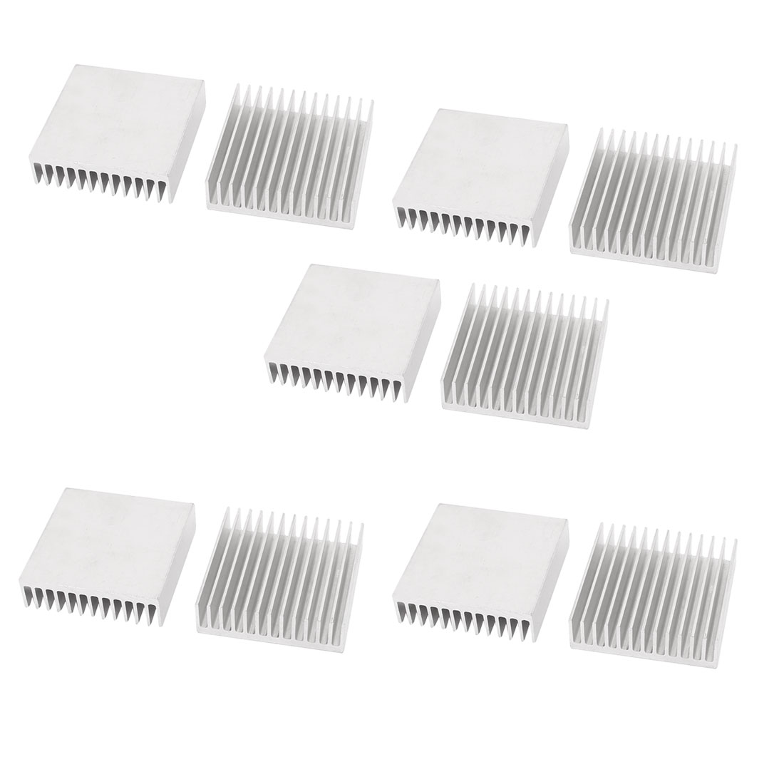10Pcs Square Aluminium Heatsink Heat Sink 41mm x 40mm x 11mm for LED IC MCU