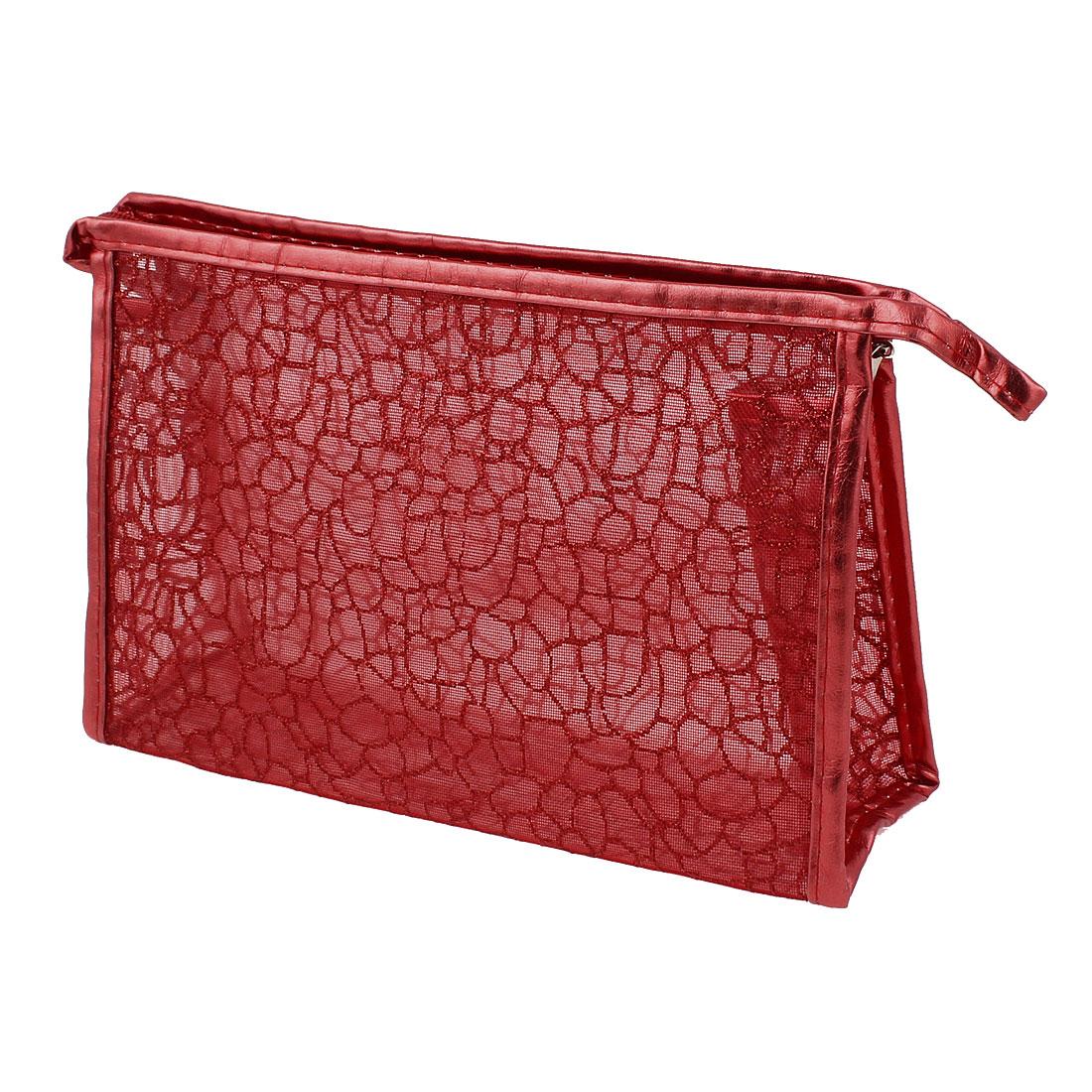 Lady Waterproof Makeup Cosmetic Bag Handbag Organizer Red