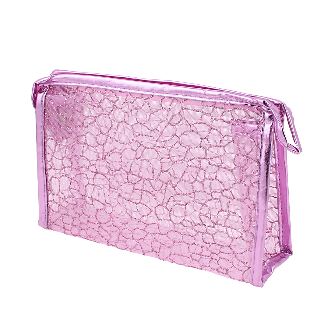 Lady Waterproof Makeup Cosmetic Bag Handbag Organizer Pink