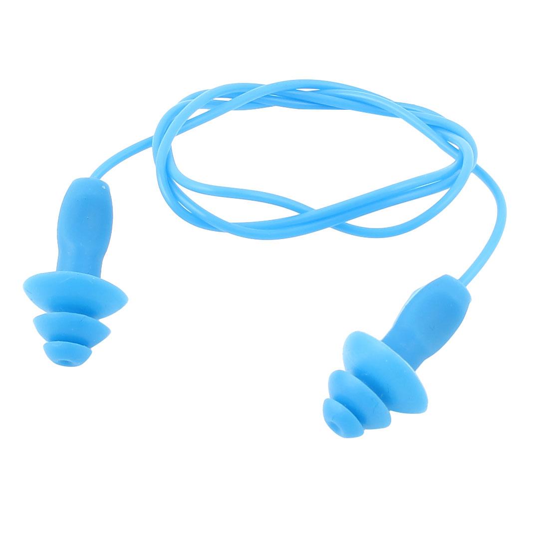 Blue Silicone Water Sports Swim Sleep Hearing Protection Earplug