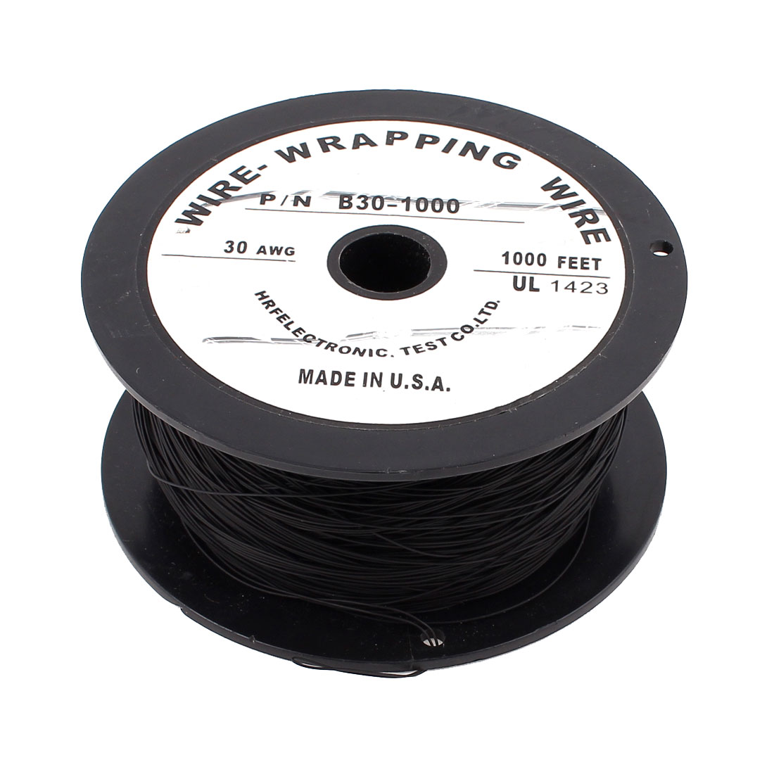 90m 295Ft 200C Flexible PVDF Wire-Wrapping Wire 30AWG Gauge Cable Cord Roll Black