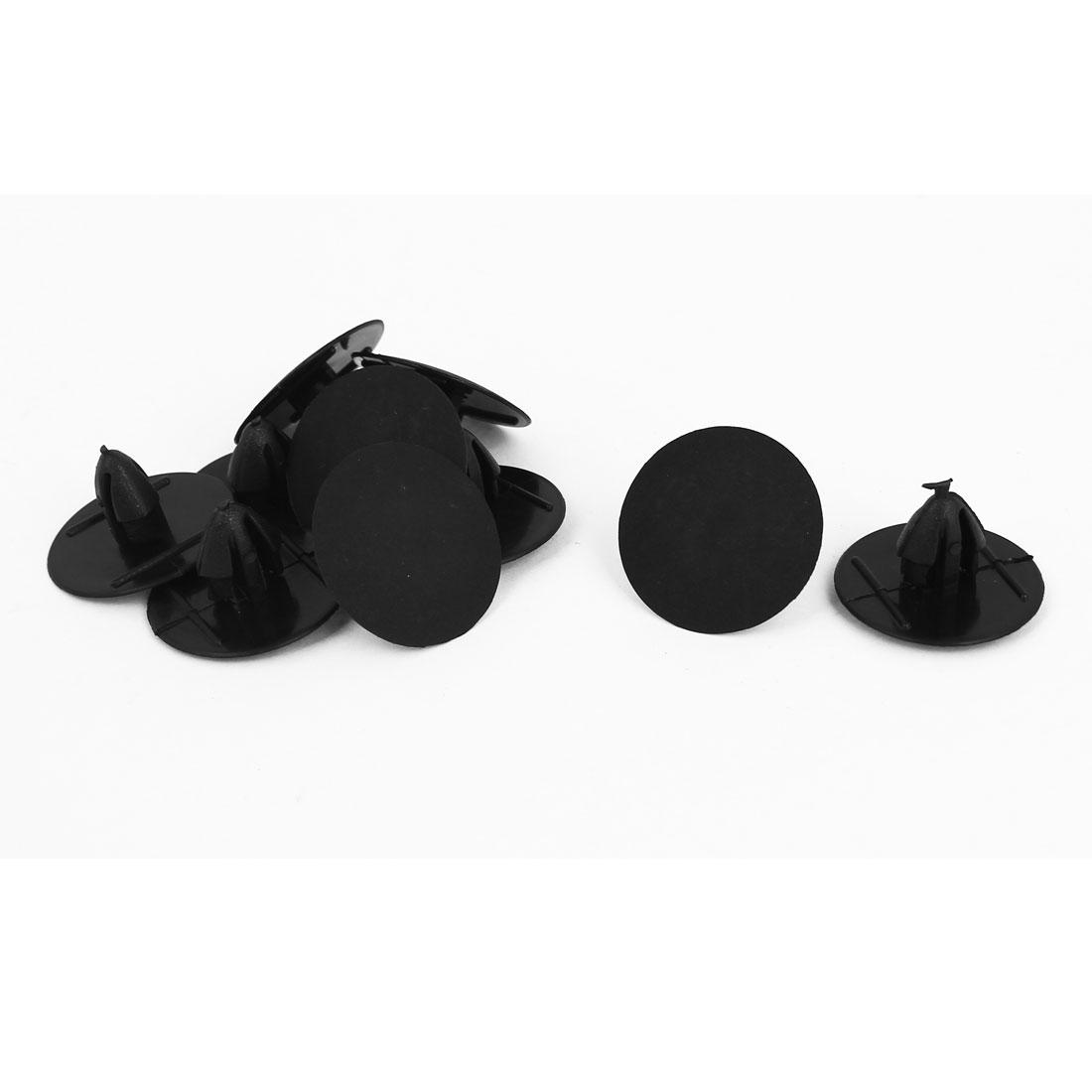 Black Plastic 10mm x 7mm Rivets Fastener Fender Car Bumper Push Clips 10 Pcs