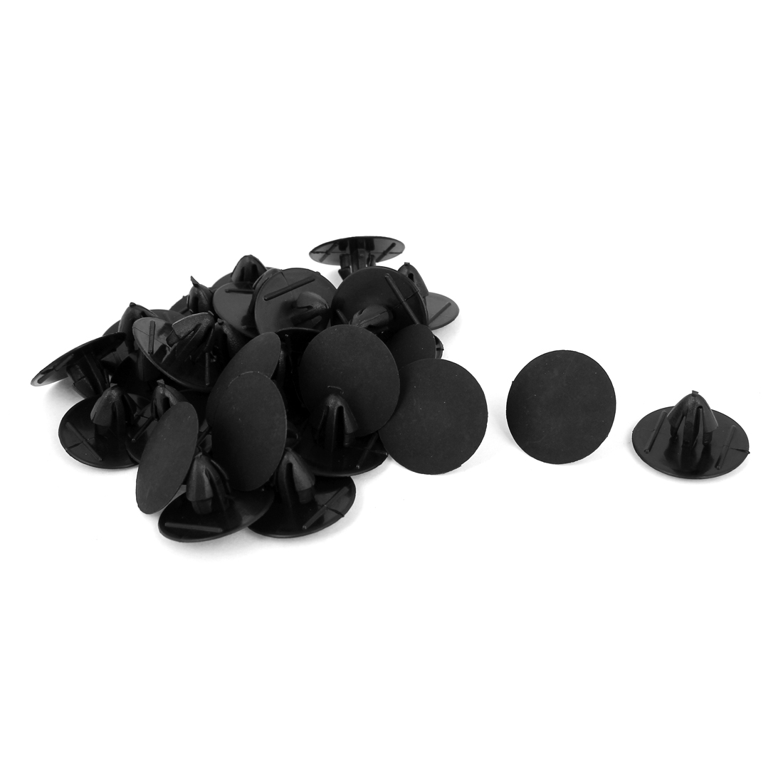 Black Plastic 9mm x 6.5mm Rivets Fastener Fender Car Bumper Push Clips 30 Pcs