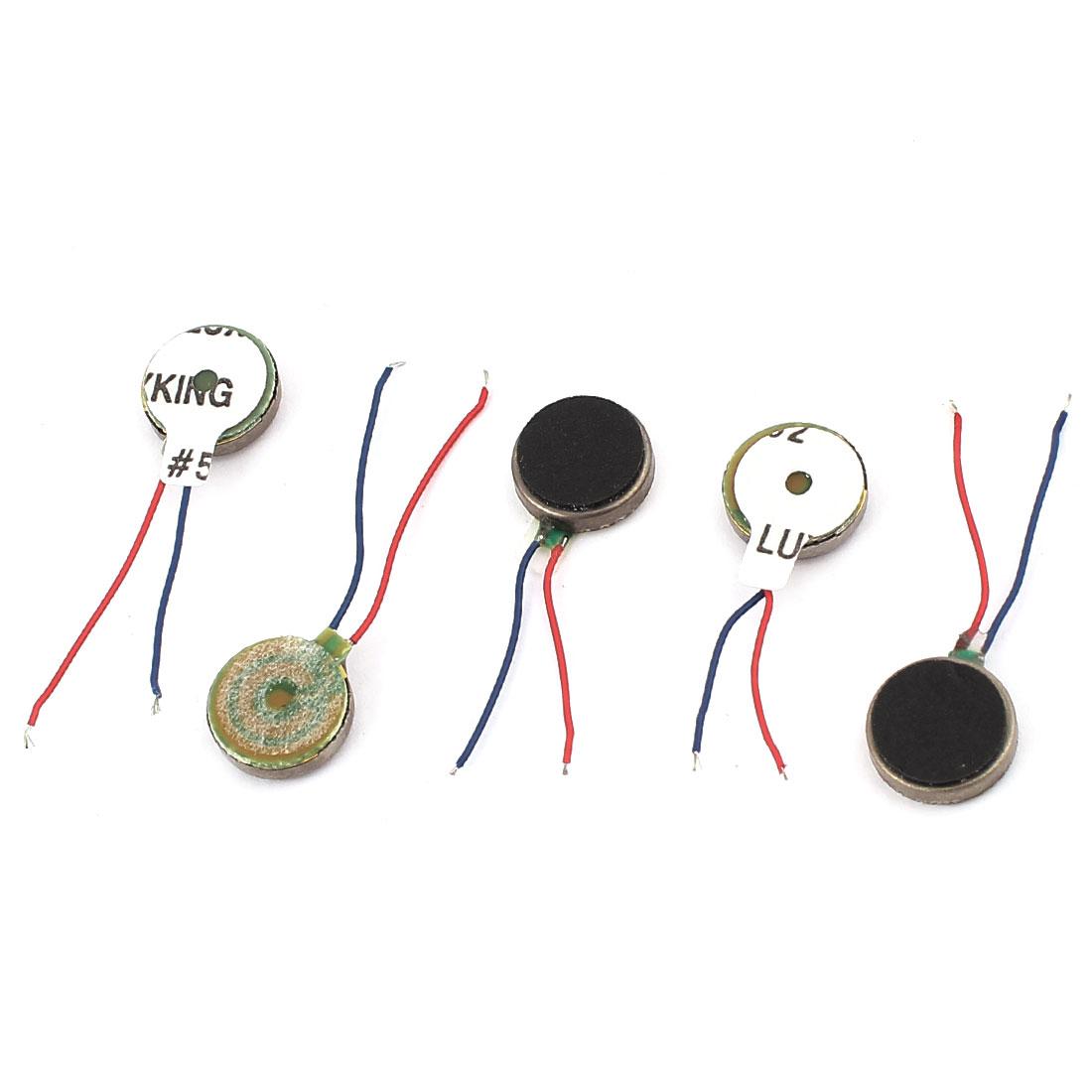 5Pcs DC 1.5V-3V 10mm x 2.7mm Brushless Micro Vibration Motor for Cellphone