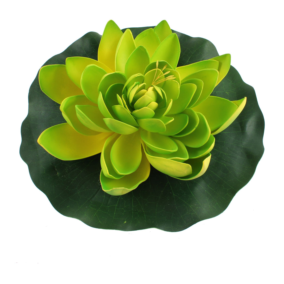 Aquarium Artificial Foam Lotus Flower Aquatic Floating Plant Decor Green