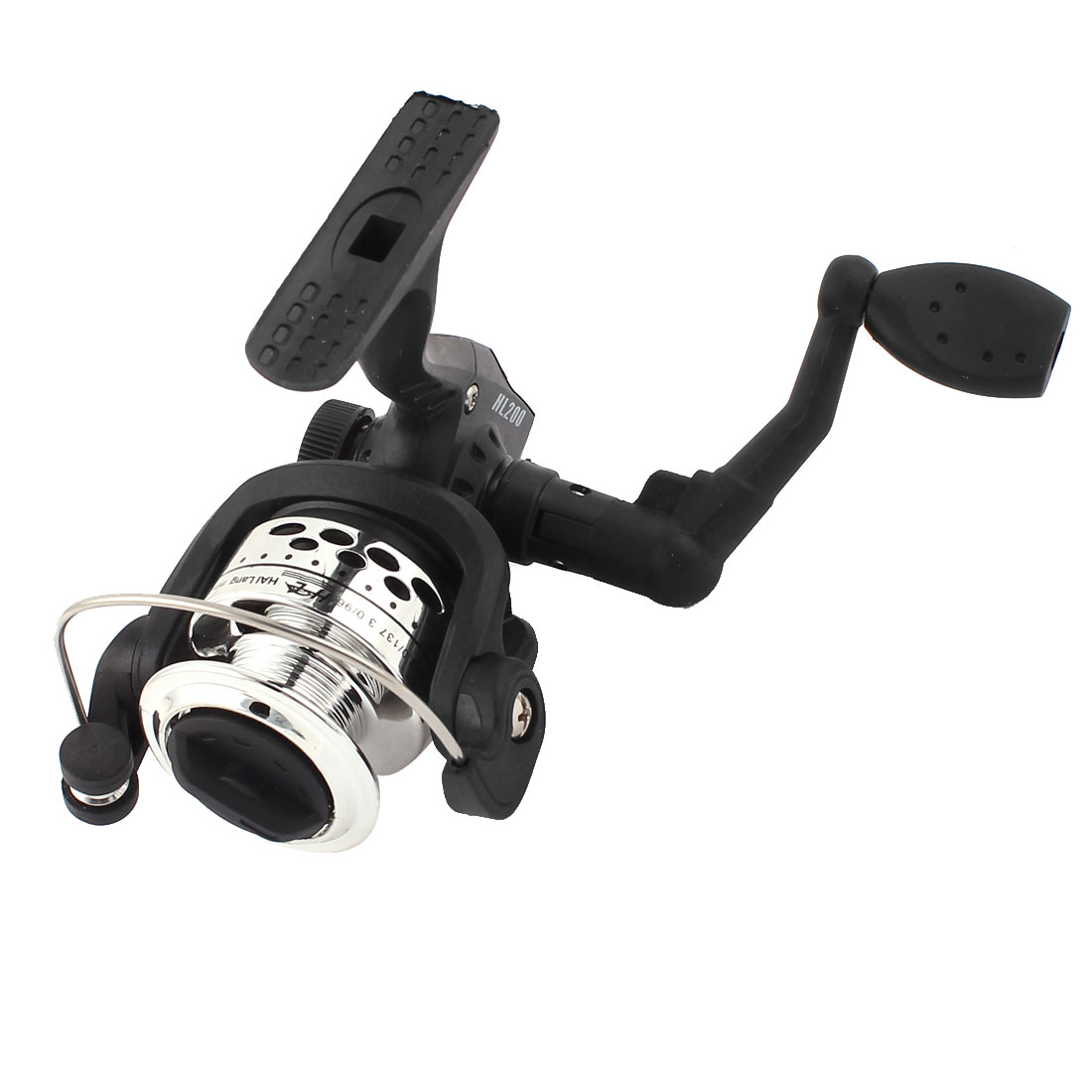 Black 5.2:1 Gear Ratio Angling Fishing Rotating Line Winding Spinning Reel
