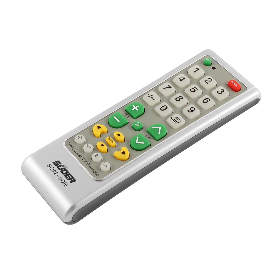 Universal Intelligent Functional TV Remote Controller Gray Silver Tone
