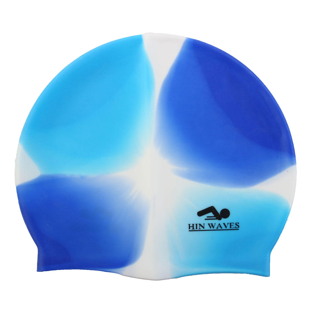 Unisex Blue Gradient Silicone Swim Particle Swimming Surfing Elastic Cap Hat