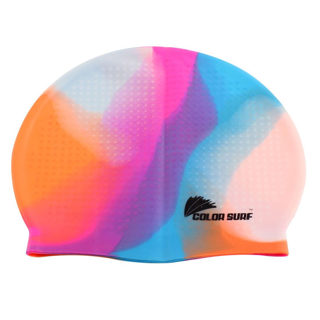 Adult Silicone Water Resistant Particle Swim Swimming Surfing Elastic Cap Hat Multicolor