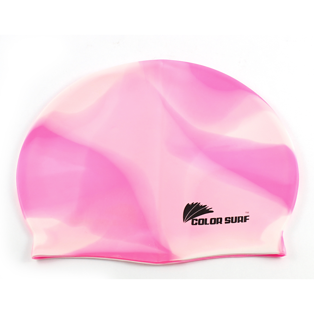 Adult Silicone Particle Swim Swimming Surfing Elastic Cap Hat Pink White