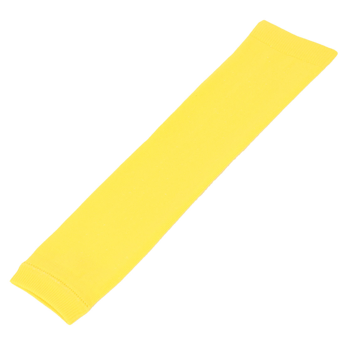 Cotton Nylon Knitted Sports Support Outdoor Arm Sleeve Cover Yellow