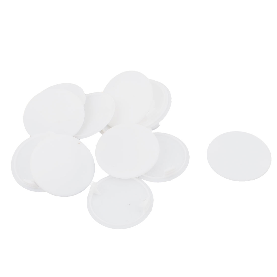 13pcs 40mm Dia White Plastic Round Furniture Pipe End Drilling Cover Plugs Caps Inserts