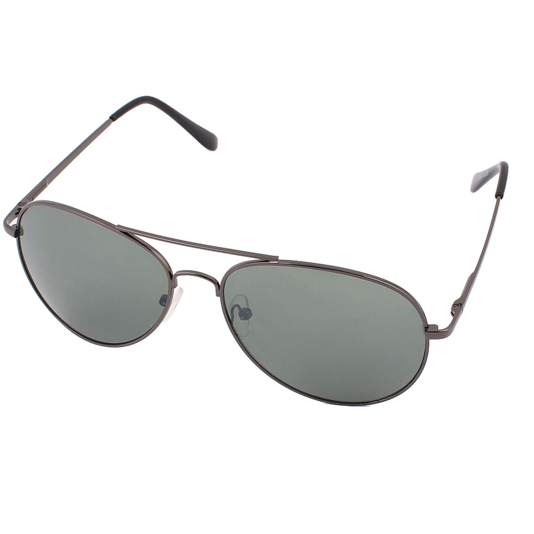 Men Outdoor Casual Double Bridge Metal Full Frame Dark Green Waterdrop Lens Sunglasses Eyewear Eye Protector Glasses