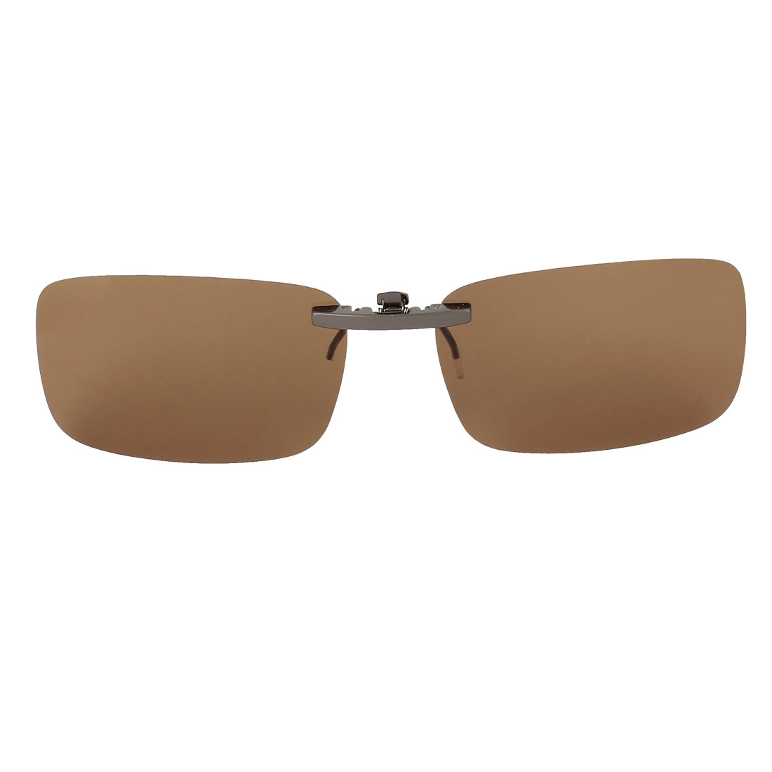 Outdoor Hiking Travel Lens Rimless Clip On Polarized Sunglasses Glasses Eyewear Brown