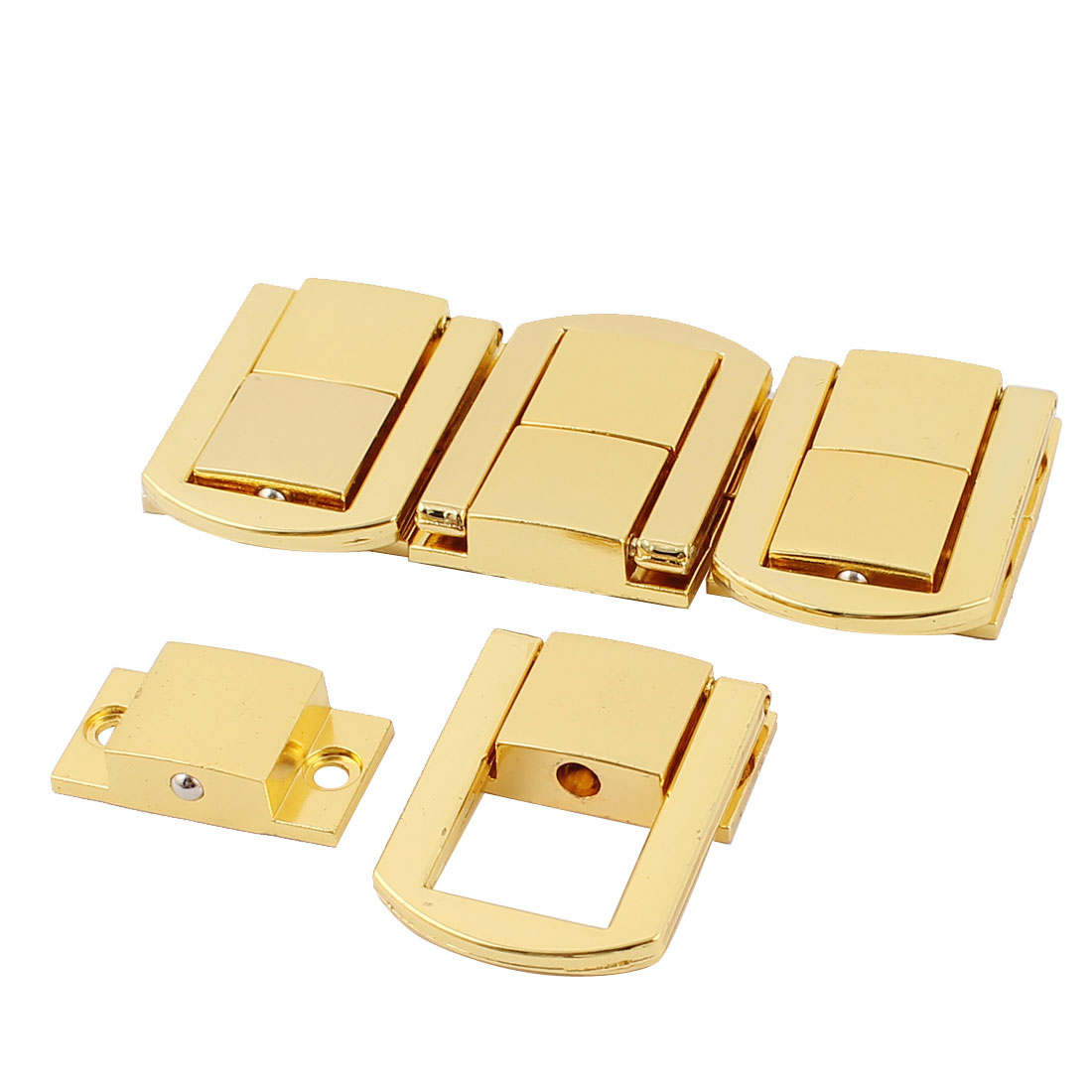 4PCS Spring Loaded Gold Tone Metal Cases Boxes Chest Toggle Catch Lacth Lock