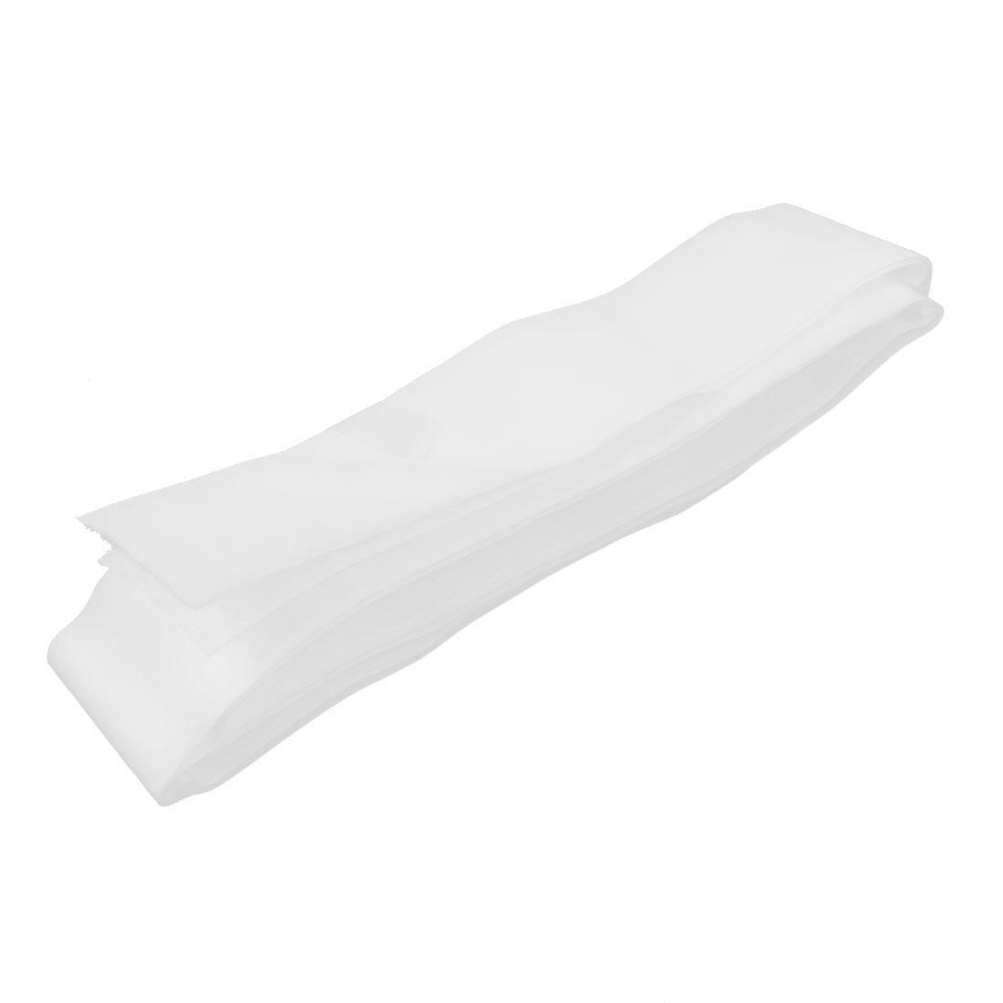 """2"""" Width White Self Adhesive Hook Loop Tape Fastener Sticky 1Meter 3.3Ft Long"""